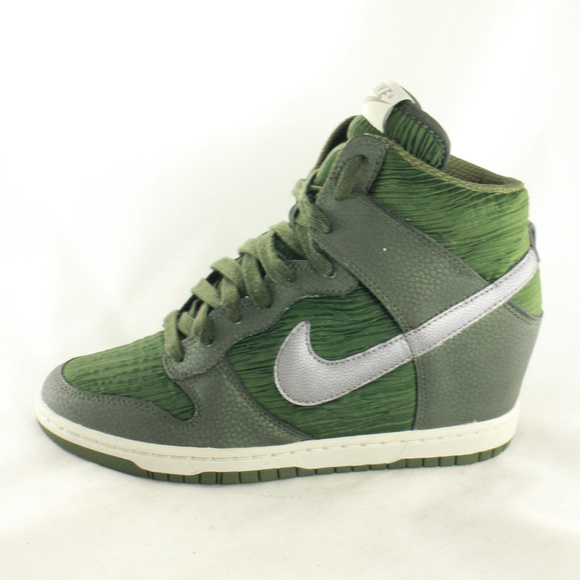 3590f4c30dd Nike Dunk Sky Hi Carbon Green Wedge Heel Sneakers.  M 5a981d918af1c51c08207ac8